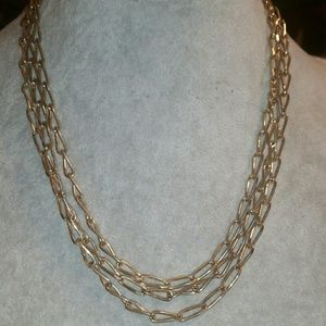 Monet Gold Tone '36' Rolo Chain Necklace